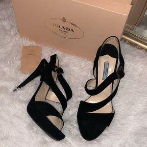 Prada suede heels
